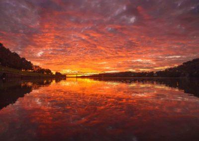 Color Explosion over the Ohio River