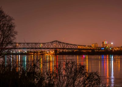 Ohio River Skyline with Lights