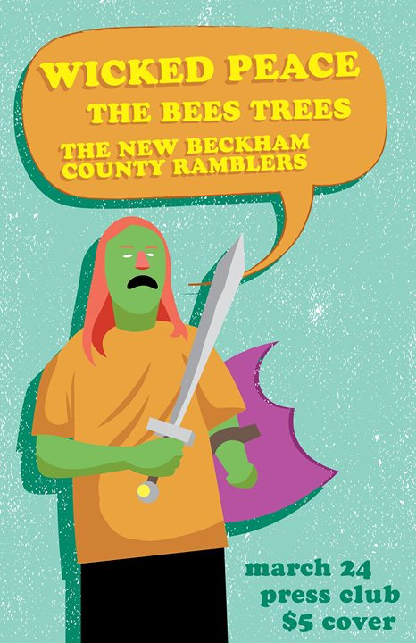 Wicked Peace, The Bees Trees, New Beckham County Ramblers at PC