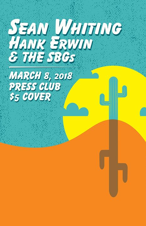 Sean Whiting, Hank Erwin & the SBGs at Press Club!