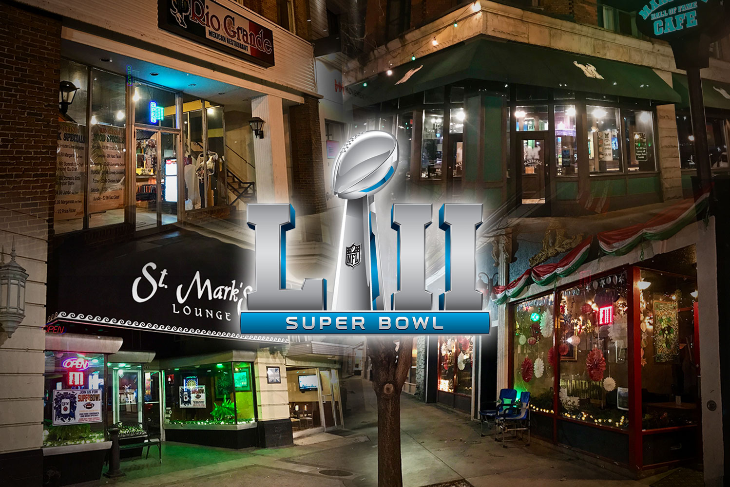 Downtown Establishments to Host Super Bowl LII Watch Parties