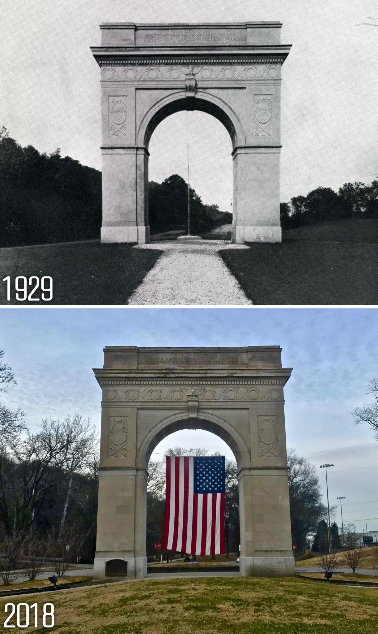 3. The Veterans Memorial Arch. Huntington's ...