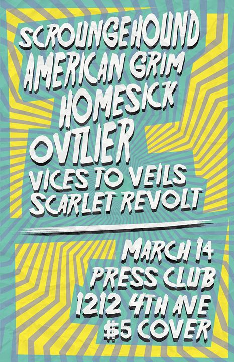 Scroungehound, American Grim, Homesick and more at Press Club!