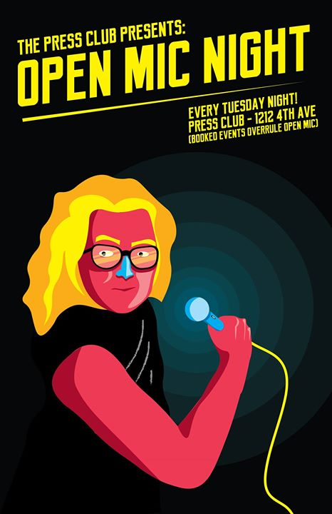 Open Mic Night at Press Club Every Tuesday!