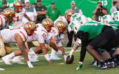 Marshall Football Defeats VMI 56-17