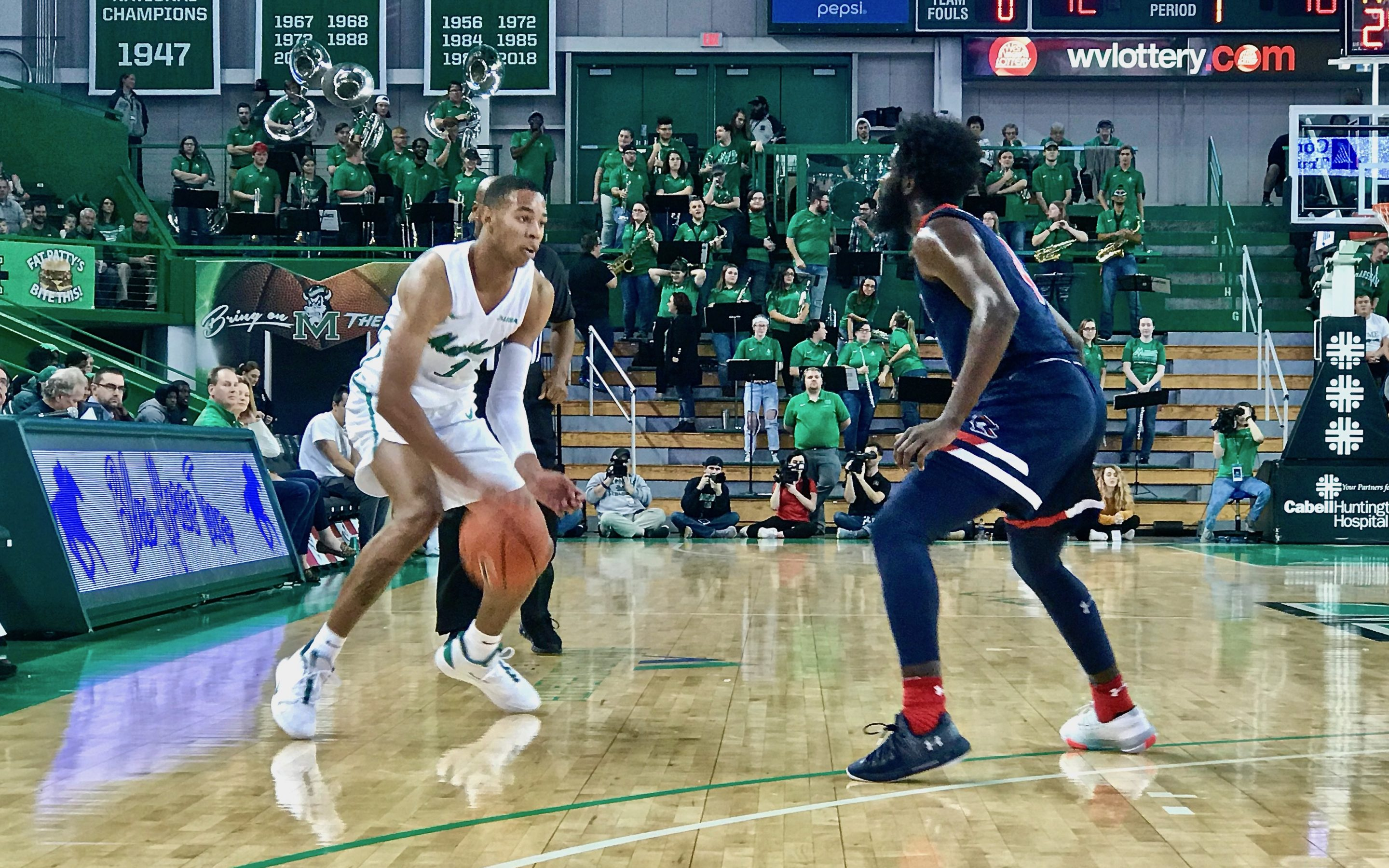 Marshall Basketball Defeats Robert Morris 67-60 In Season Opener